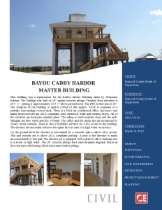 Bayou Caddy Harbor Master Building