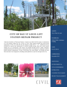 City of Bay St Louis Lift Station Repair Project