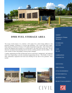 DMR Fuel Storage Area