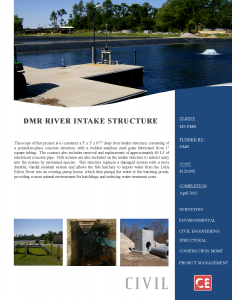DMR River Intake Structure