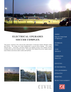 Electrical Upgrade to the Soccer Complex