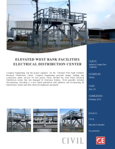 Elevated West Bank Facilities Electrical Distribution Center