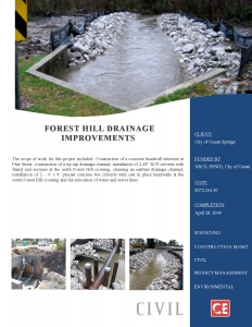 Forest Hill Drainage Improvements