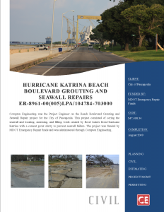 Hurricane Katrina Beach Blvd Grouting and Seawall 205-125.002C