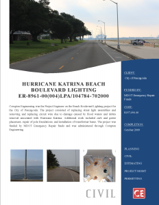Hurricane Katrina Beach Blvd Lighting 205-125.002B