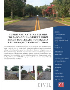 Hurricane Katrina Pascagoula Street Avenue South 205-125.005