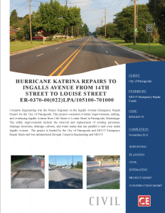 Hurricane Katrina Repairs to Ingalls Avenue 205-125.004