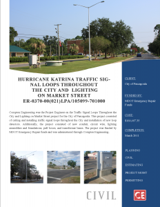 Hurricane Katrina Traffic Signal Loops 205-125.003