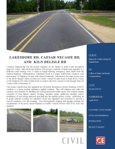 Lakeshore Road Caesar Necaise Road Kiln Delisle Road