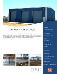Leetown Fire Station
