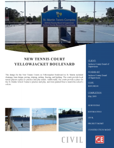 New Tennis Court Yellowjacket Boulevard