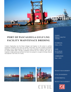 Port of Pascagoula Gulf LNG Facility Maintenance Dredging