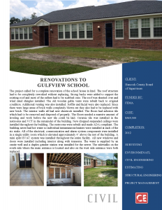 Renovations Gulfview School