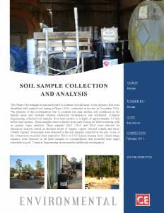 Soil Sample Collection and Analysis