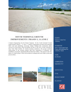 South Terminal Ground Improvements Phase 1 1A and 2