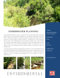 Stormwater Planning