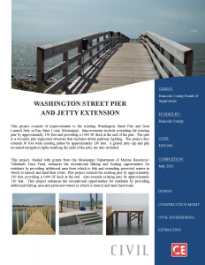 Washington Street Pier and Jetty Extension